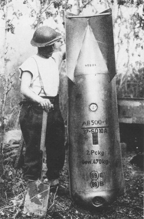 pictures of world war 2 bombs
